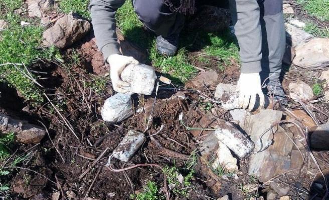 Şırnak, Muş ve Bitlis'te el yapımı patlayıcılar ele geçirildi