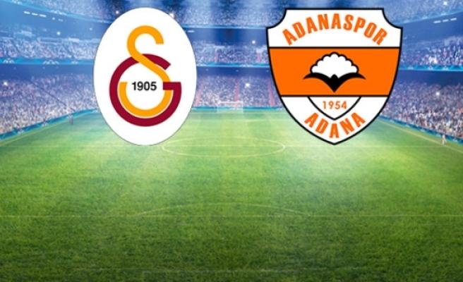Süper Lig'deki Galatasaray-Adanaspor Maçının İlk 11'leri Belli Oldu