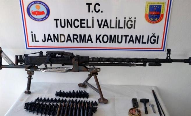 Tunceli'de doçka silahı ve mühimmatı ele geçirildi
