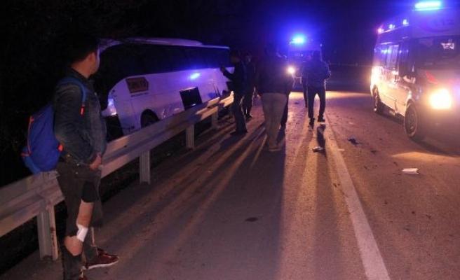 Tur otobüsü sürücüsü köpeğe çarpmamak için manevra yaptı: 15 yaralı