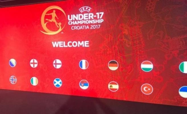 UEFA 17 Yaş Altı Avrupa Şampiyonası'nda rakiplerimiz belli oldu