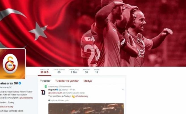Galatasaray Twitter'da 7 milyon takipçiye ulaştı