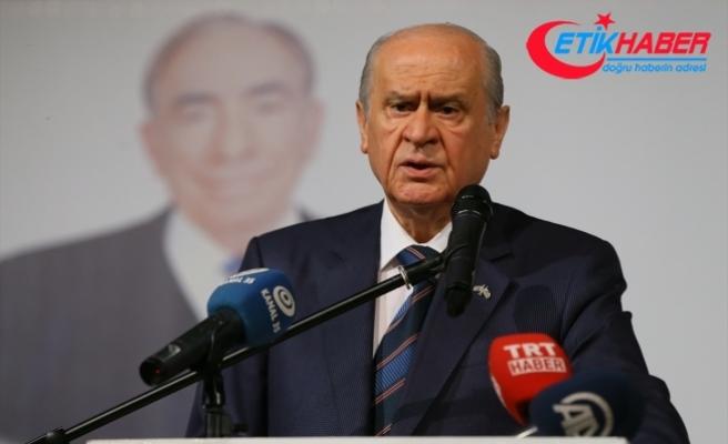 MHP Lideri Bahçeli: CHP'nin karanlığa doğru adım atmasına PKK destek vermektedir, FETÖ omuz vermektedir