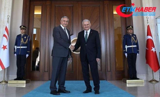 Başbakan Yıldırım, KKTC Cumhurbaşkanı Akıncı ile bir araya geldi