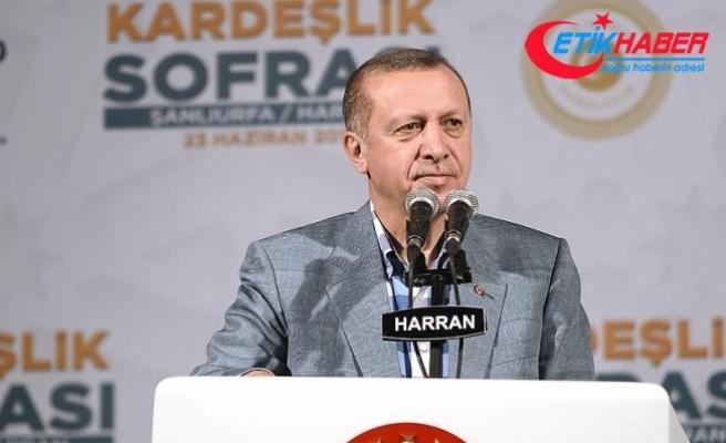 Cumhurbaşkanı Erdoğan: Türkiye'yi itham etmelerinin nedeni Suriye'deki oyunu bozmamız