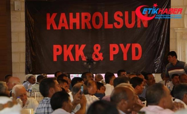 Şanlıurfalı Arap aşiretler PYD/PKK'ya tepki için toplandı