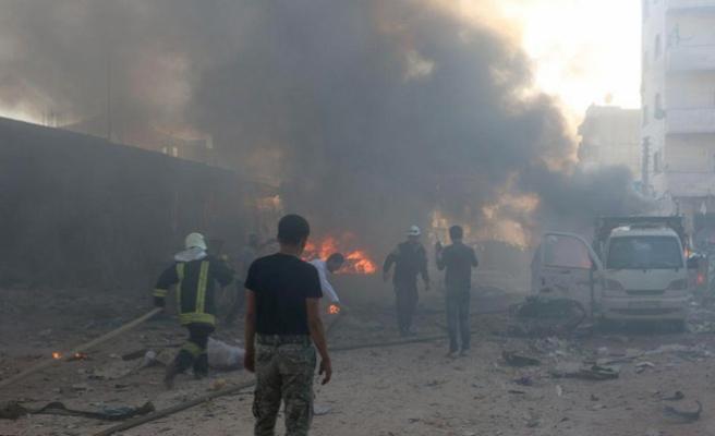 Azez'de bomba yüklü araçta patlama: 4 ölü, 7 yaralı