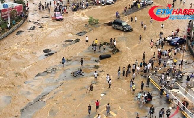 Çin'de sel: 56 ölü