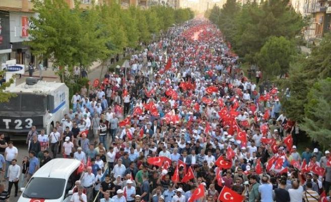 Diyarbakır'da Milli Birlik yürüyüşü
