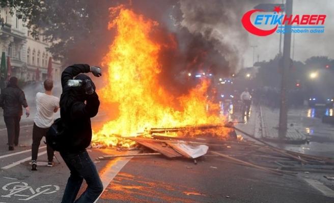 Hamburg'daki şiddet olaylarında 476 polis yaralandı, 411 kişi gözaltına alındı