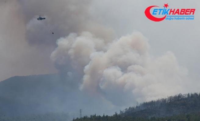 İzmir'deki yangın 100 hektardan fazla alanda etkili oluyor
