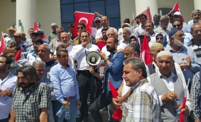 Kahta'da PKK'ya tepki yürüyüşü