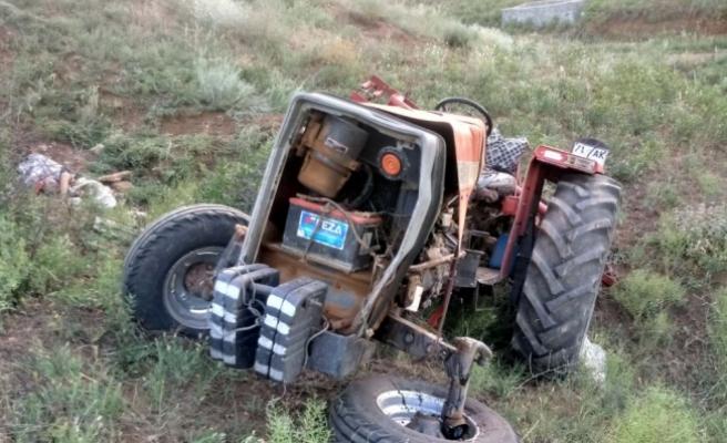 Kırıkkale'de devrilen traktörün altında kalan dede ve torunu öldü