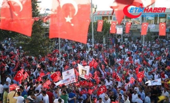 Suruç'ta Türk bayraklarıyla PKK terörüne tepki