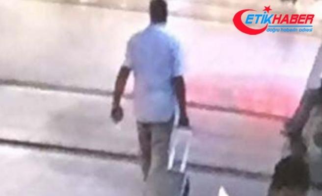 'Valizim çalındı' diye girdi, başkasının valizini çaldı