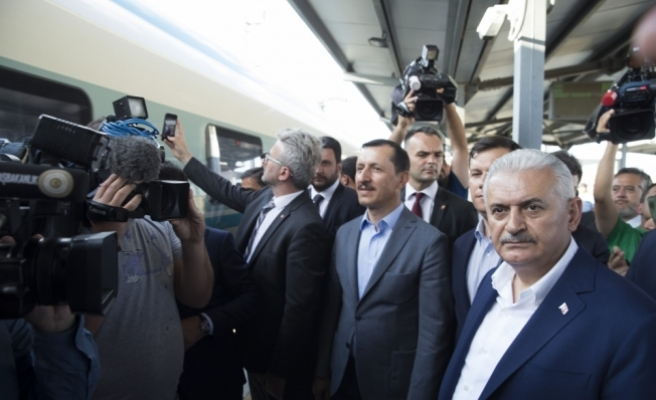 Yıldırım, Polatlı'dan Ankara'ya yüksek hızlı trenle döndü