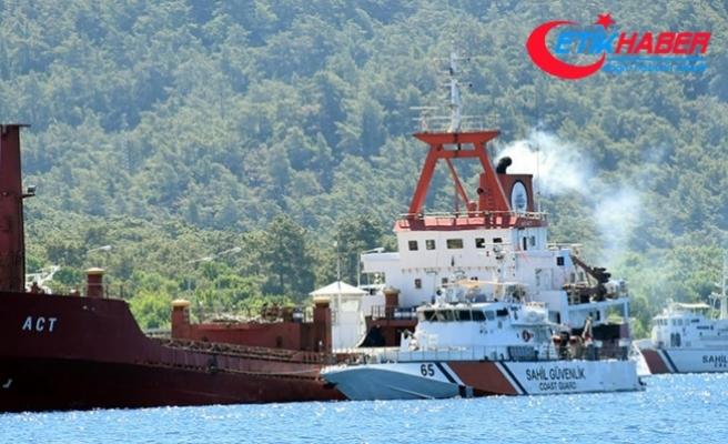 Yunanlıların ateş açtığı gemi Marmaris'ten ayrıldı