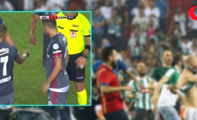 Süper Kupa finalinde sahaya bıçak (kelebek) attığı ileri sürülen şüpheli serbest bırakıldı