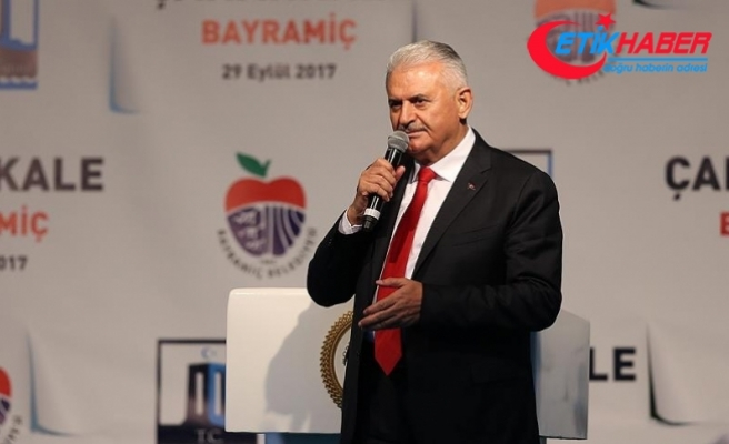 Başbakan Yıldırım: Erbil'e saat 18.00 itibarıyla bütün uçuşlar iptal edilmiştir
