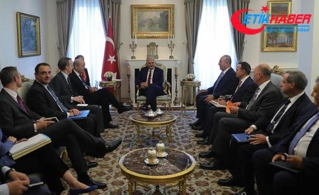 Başbakan Yıldırım, Fransa Dışişleri Bakanı Le Drian'ı kabul etti
