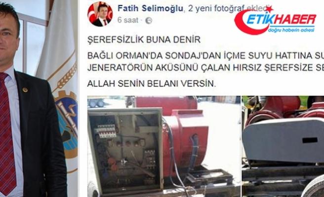 Belediye Başkan'ından hırsıza: 'Allah belanı versin'