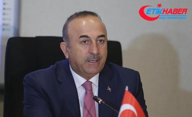 """Çavuşoğlu:  """"(Türkiye ve Fransa) Siyasi çözüm konusunda aynı düşünüyoruz"""""""
