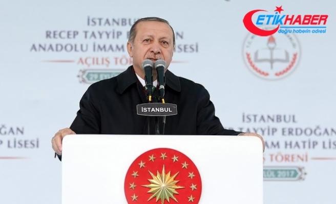 Erdoğan: İmam hatiplerde hamdolsun 1 milyon 300 bin öğrenci var