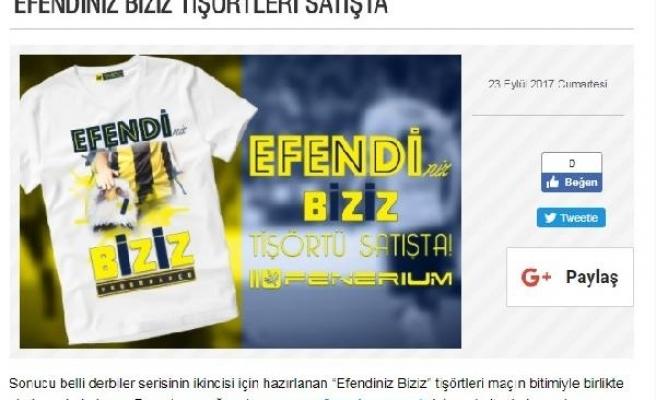 Fenerbahçe'den maç sonu imalı tişört