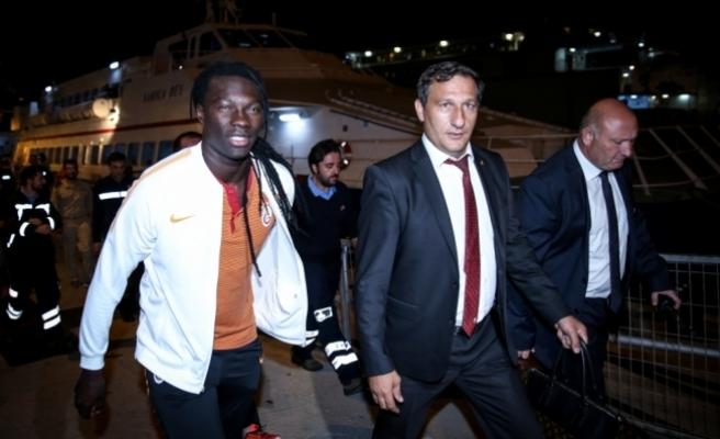Galatasaray kafilesi, Bursa'ya geldi