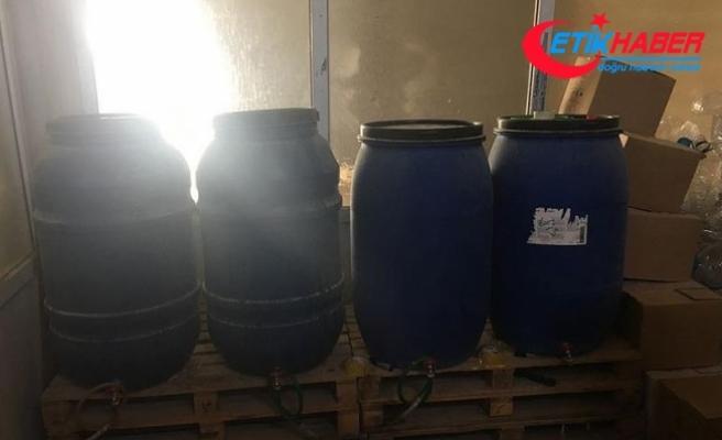 Gaziantep'te bin 116 litre sahte içki ele geçirildi