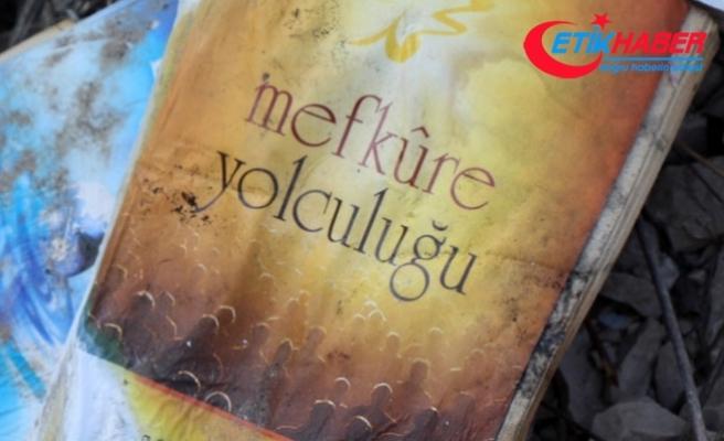 Ormanlık alanda FETÖ elebaşına ait kitaplar bulundu