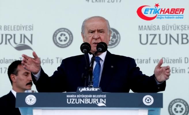 Bahçeli: Türkiye, meşru müdahale hakkını her yönden kullanmalıdır