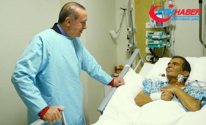 Cumhurbaşkanı Erdoğan, Naim Süleymanoğlu'nu hastanede ziyaret etti