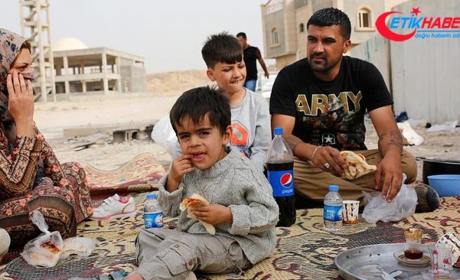 Kerkük'ten Erbil'e kaçan aileler yardım bekliyor