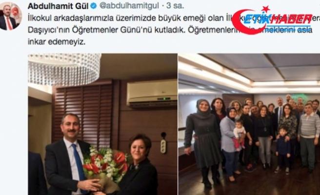 Adalet Bakanı Gül'den ilkokul öğretmenine ziyaret