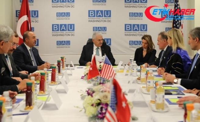 Başbakan Yıldırım'dan ABD'de üniversite ziyareti