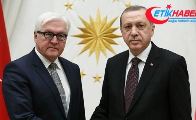 Cumhurbaşkanı Erdoğan, Steinmeier ile Suriye'yi görüştü