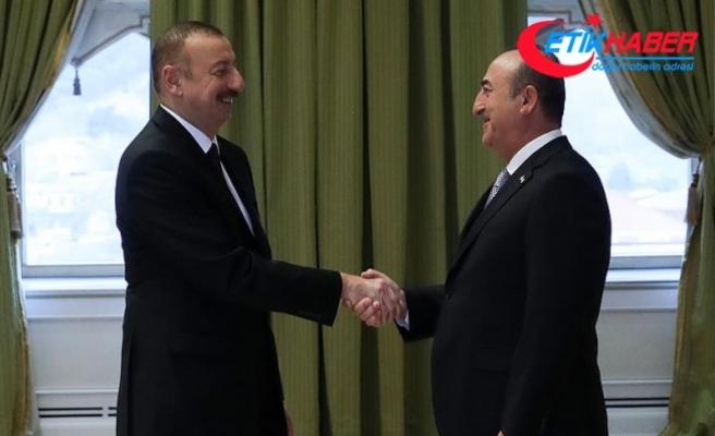 Dışişleri Bakanı Çavuşoğlu Azerbaycan'da Cumhurbaşkanı Aliyev tarafından kabul edildi