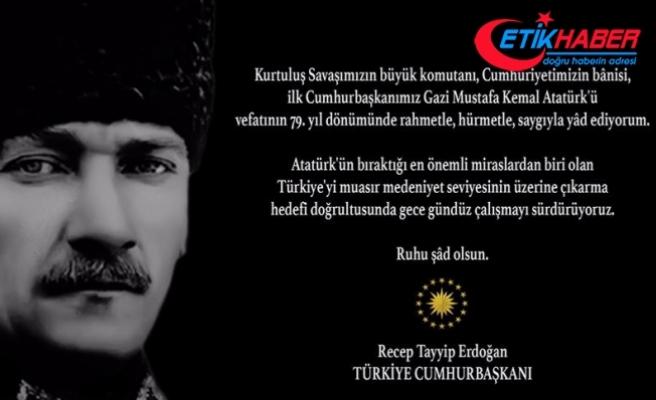 Erdoğan'dan Instagram ve Twitter'dan '10 Kasım' mesajı