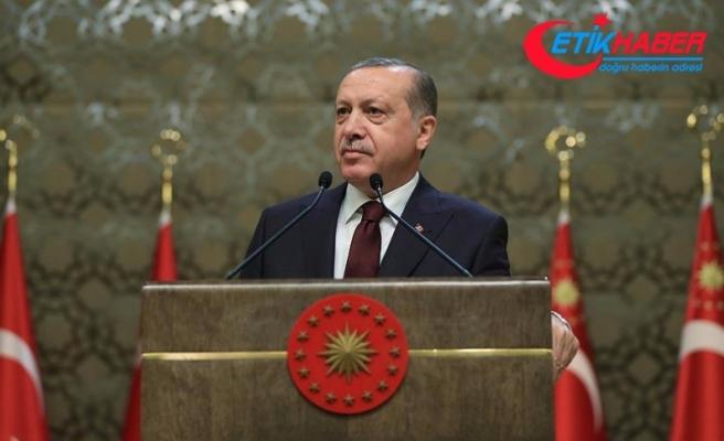 Erdoğan: Gazilerimiz 80 milyonun namusuna emanet edilmiş yadigarlardır