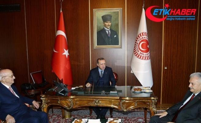 Erdoğan, Kahraman ve Yıldırım Mecliste bir araya geldi