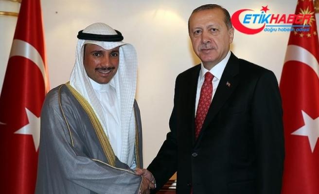 Erdoğan Kuveyt Meclis Başkanını kabul etti