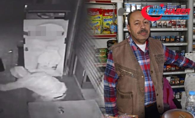 Hırsız borç defterini yaktı, market sahibine yumruk attı