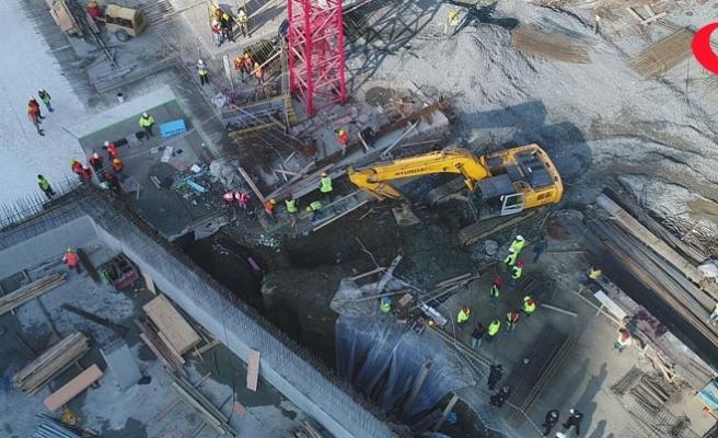 İstanbul'da inşaatta göçük!