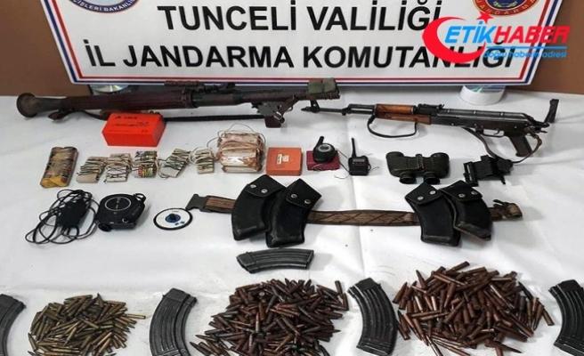 Tunceli'de çok sayıda mühimmat bulundu