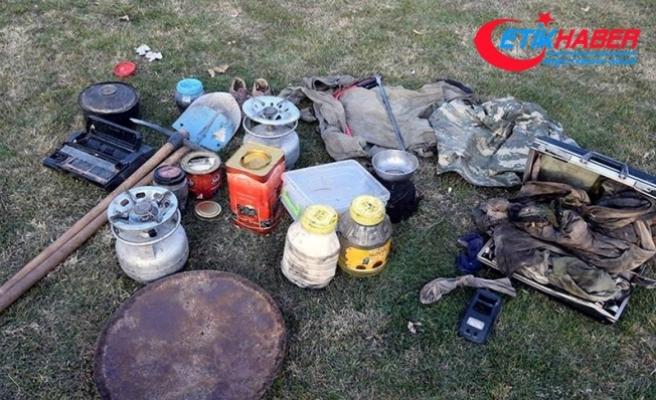 Tunceli'de terör operasyonunda patlayıcılar bulundu