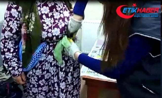 70 yaşındaki kadının beline sarılı halde bulundu!