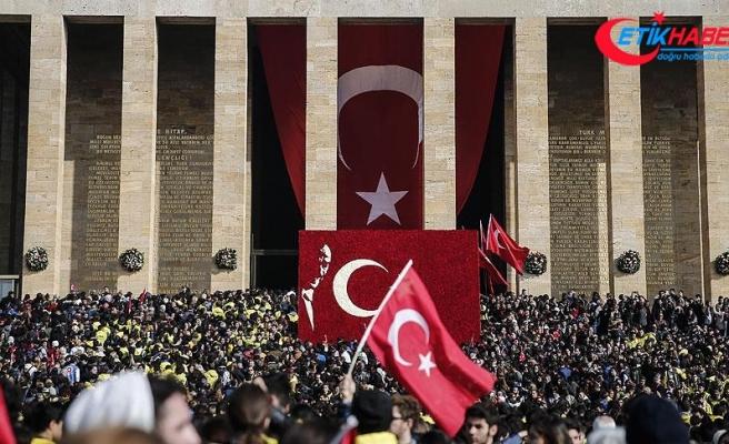 Anıtkabir'i 6 milyonu aşkın kişi ziyaret etti