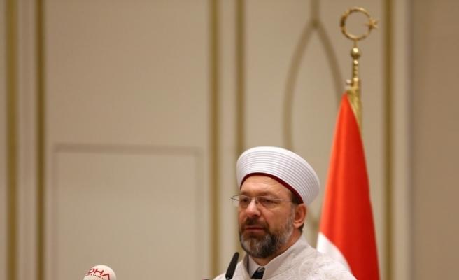 Diyanet İşleri Başkanı Prof. Dr. Erbaş: Kudüs'le ilgili alınan bu kararı tekrar tekrar kınıyoruz