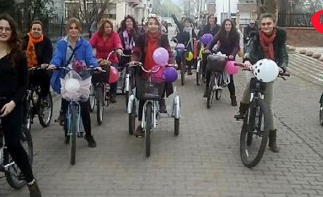 Belediye işçisinden bisiklet süren kadına 'tahrik ediyorsunuz' saldırısı
